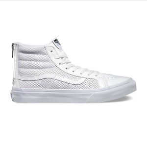 eb3409deec Vans Shoes - Vans perf leather sk8 hi slim zip